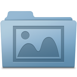 256x256px size png icon of Photo Folder Blue