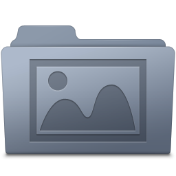 256x256px size png icon of Photo Folder Graphite