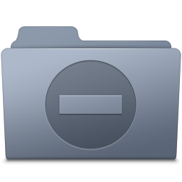 256x256px size png icon of Private Folder Graphite