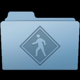 256x256px size png icon of Public Folder Blue