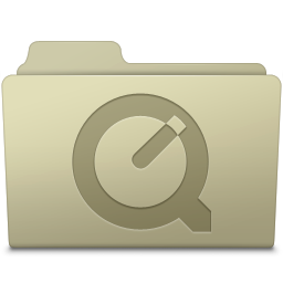 256x256px size png icon of QuickTime Folder Ash