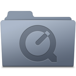 256x256px size png icon of QuickTime Folder Graphite