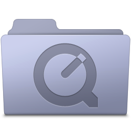 256x256px size png icon of QuickTime Folder Lavender