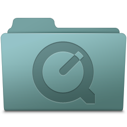 256x256px size png icon of QuickTime Folder Willow