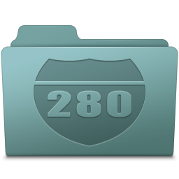 256x256px size png icon of Route Folder Willow