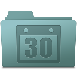 256x256px size png icon of Schedule Folder Willow