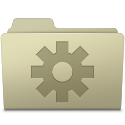 256x256px size png icon of Setting Folder Ash