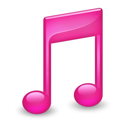 256x256px size png icon of Sidebar Music Pink