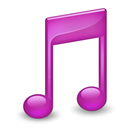 256x256px size png icon of Sidebar Music Purple