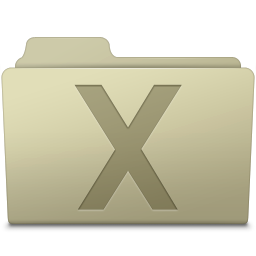 256x256px size png icon of System Folder Ash