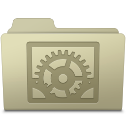 256x256px size png icon of System Preferences Folder Ash