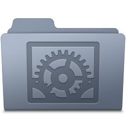 256x256px size png icon of System Preferences Folder Graphite