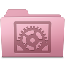 256x256px size png icon of System Preferences Folder Sakura