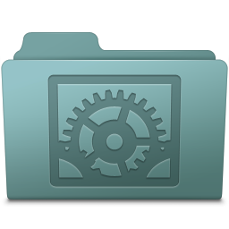 256x256px size png icon of System Preferences Folder Willow