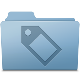 256x256px size png icon of Tag Folder Blue
