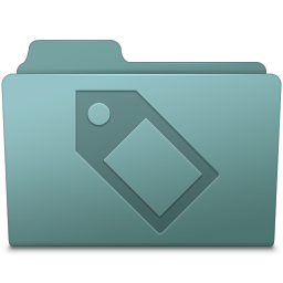 256x256px size png icon of Tag Folder Willow