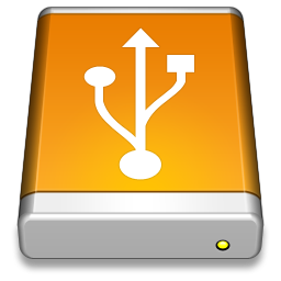 256x256px size png icon of USB Drive