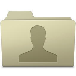 256x256px size png icon of Users Folder Ash