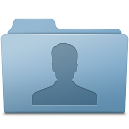256x256px size png icon of Users Folder Blue
