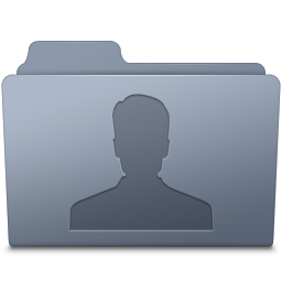 256x256px size png icon of Users Folder Graphite