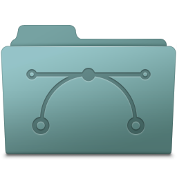 256x256px size png icon of Vector Folder Willow