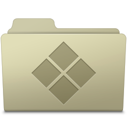 256x256px size png icon of Windows Folder Ash