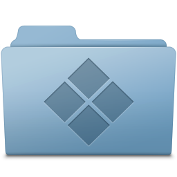 256x256px size png icon of Windows Folder Blue