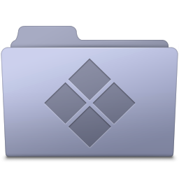 256x256px size png icon of Windows Folder Lavender