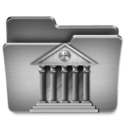 256x256px size png icon of Library Mac