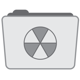 256x256px size png icon of Folder Burnable