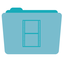 256x256px size png icon of Folder Movies