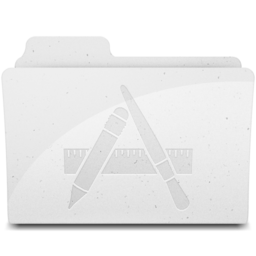 256x256px size png icon of ApplicationsFolderIcon White
