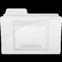 256x256px size png icon of DesktopFolderIcon White
