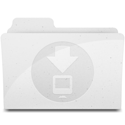 256x256px size png icon of DownloadsFolder White