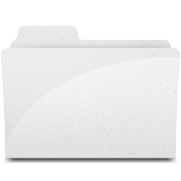 256x256px size png icon of GenericFolderIcon White