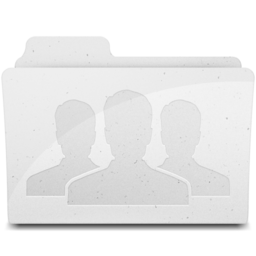 256x256px size png icon of GroupFolder White