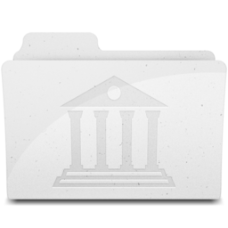 256x256px size png icon of LibraryFolderIcon White