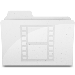 256x256px size png icon of MovieFolderIcon White
