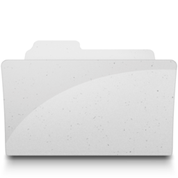 256x256px size png icon of OpenFolderIcon White