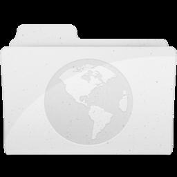 256x256px size png icon of SitesFolderIcon White