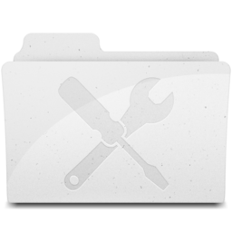 256x256px size png icon of UtilitiesFolder White