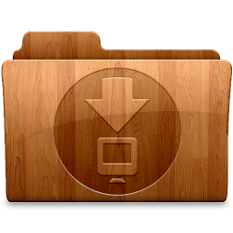 256x256px size png icon of Glossy Downloads
