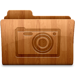 256x256px size png icon of Glossy Pictures
