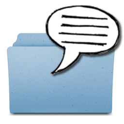 256x256px size png icon of TellingFolders