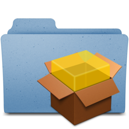 256x256px size png icon of package