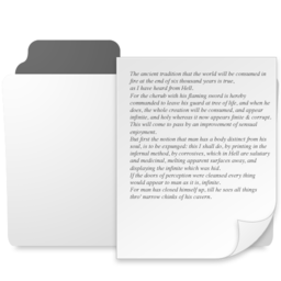 256x256px size png icon of minimal documents folder
