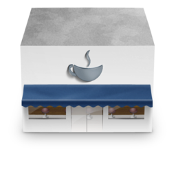 256x256px size png icon of Coffee Shop