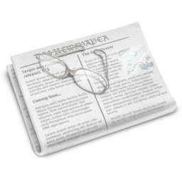 256x256px size png icon of Newspaper