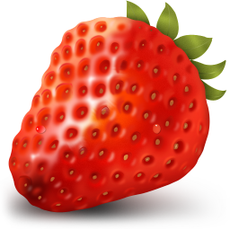 256x256px size png icon of Strawberry