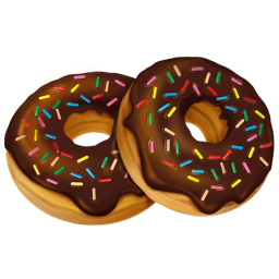 256x256px size png icon of donuts